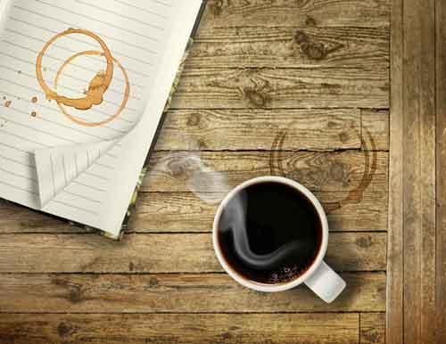 Alte Kaffeeflecken
